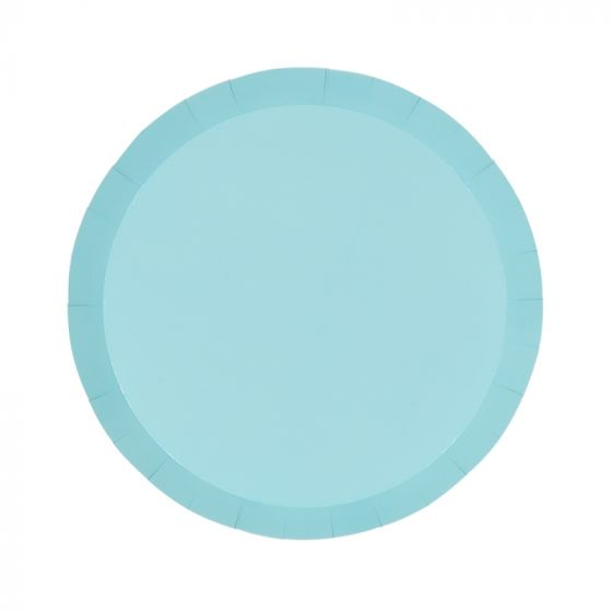 Pastel Blue Snack Plates (Pack of 10)