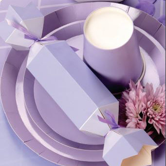Pastel Lilac Snack Plates (Pack of 10)