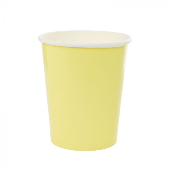 Pastel Yellow Cups (Pack of 10)