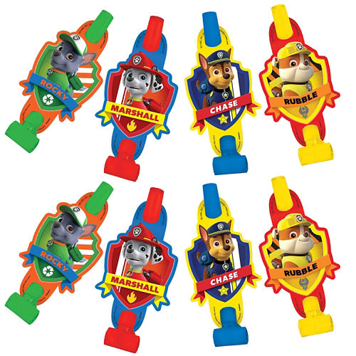 Paw Patrol Blowouts (Pack of 8)