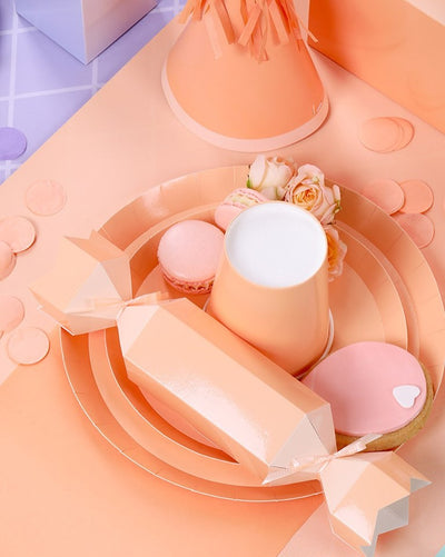 Pastel Peach Snack Plates (Pack of 10)