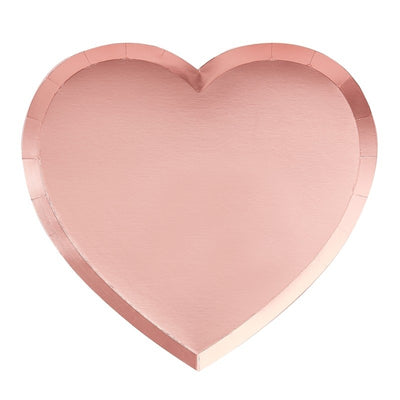 Pink Heart Shaped Plates (Pack of 8)