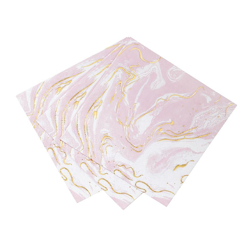 Party Porcelain Marble Cocktail Napkins (Pack of 16)
