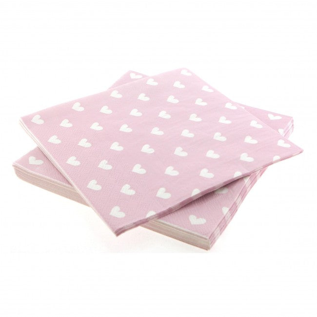 Pink Sweetheart Napkins (Pack of 20)