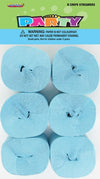 Crepe Streamers - Powder Blue (Pack of 6)