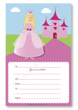 Princess Party Invitations (Pack of 12)
