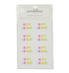 Rainbow Rectangle Happy Birthday Sticker Seals (Pack of 16)