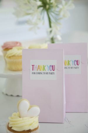 Rainbow Rectangle Thank You Sticker Seals (Pack of 16)