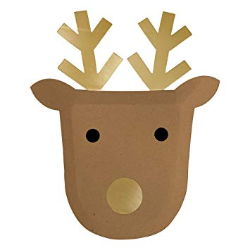 Reindeer Plates (Pack of 8)