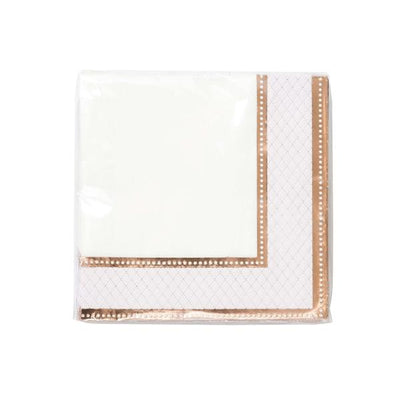 Party Porcelain Rose Gold Napkins (Pack of 16)