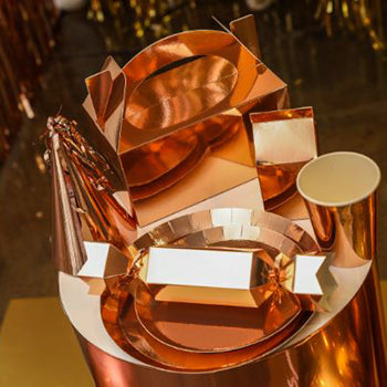 Metallic Rose Gold Cups (Pack of 10)