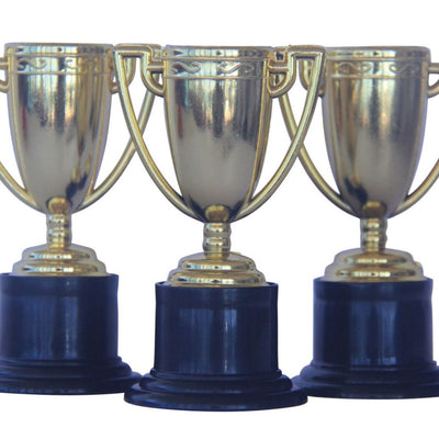 Gold Trophy Party Favours (Pack of 3)