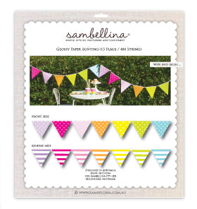 Rainbow Reversible Party Bunting