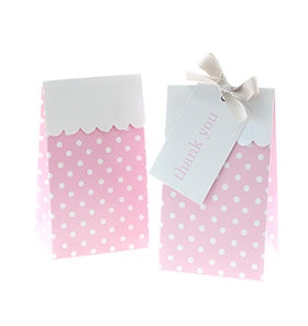 Pink Polkadot Treat Boxes (Pack of 12)