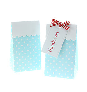 Blue Polkadot Treat Boxes (Pack of 12)
