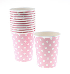 Polkadot Pink Cups (Pack of 12)
