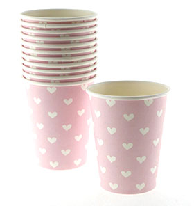 Pink Sweetheart Cups (Pack of 12)