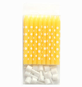 Yellow Polkadot Candles (Pack of 16)