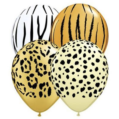 Mini Safari Balloons 12cm (Pack of 4)