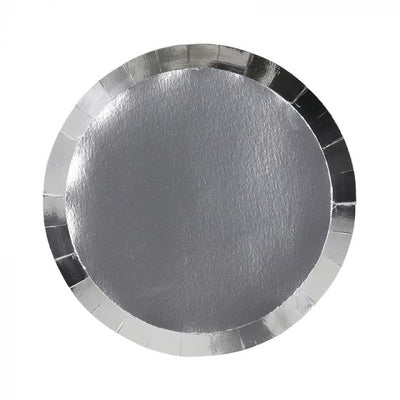 Metallic Silver Dinner Plates (Pack of 10)