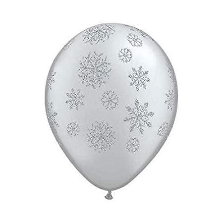 Glitter Snowflake Balloons (Pack of 25)