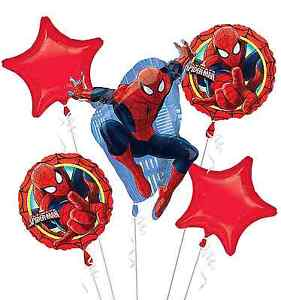 Spiderman Foil Balloon Bouquet