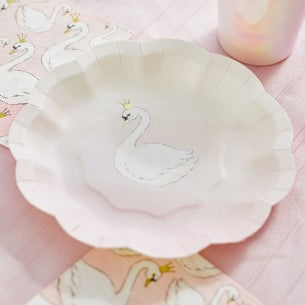 We ❤ Swans Cake Plates (Pack of 12)