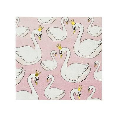We ❤ Swans Cocktail Napkins (Pack of 16)