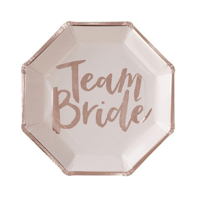 Team Bride - Paper Plates (Pack of 8)