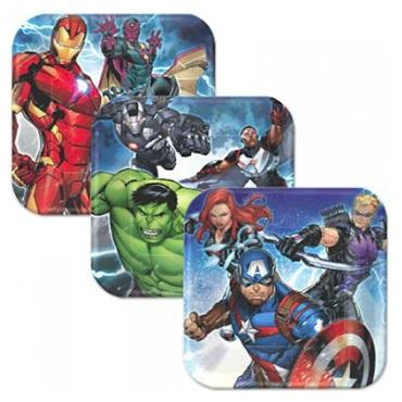 The Avengers Lunch Plates (Pack of 8)