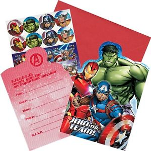 The Avengers Party Invitations (Pack of 8)