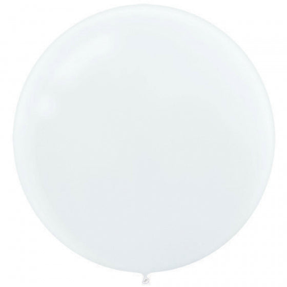 White Latex Balloons (Pack of 4)