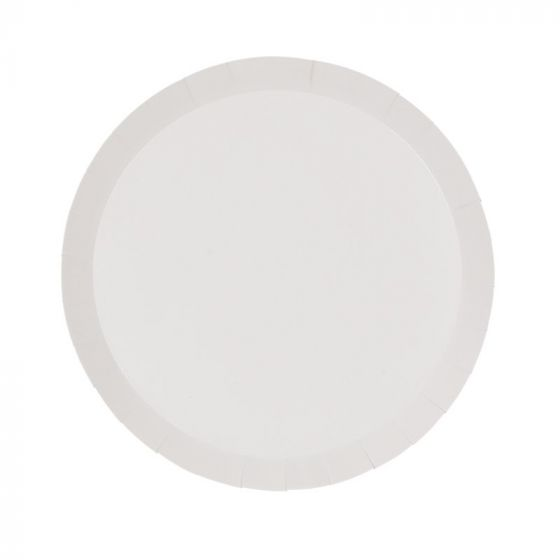 White Snack Plates (Pack of 10)