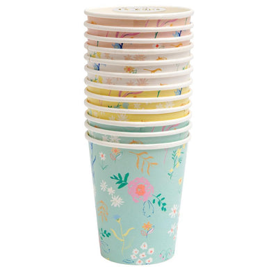 Wildflower Pastel Cups (Pack of 12)