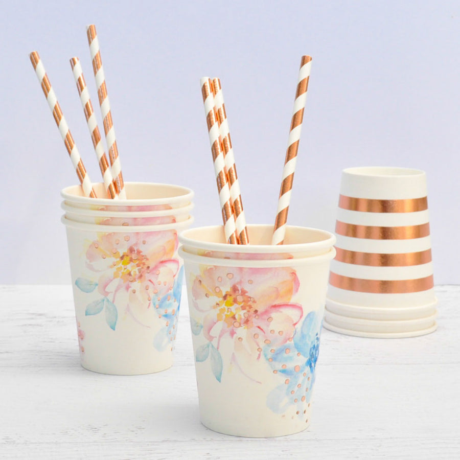Floral Cups (Pack of 10)