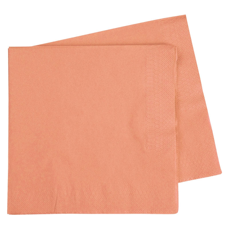 Peach Lunch Napkins (Pack of 40)