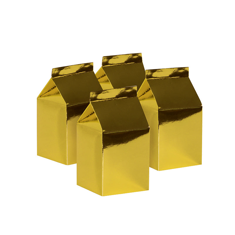 Metallic Gold Milk Boxes (Pack of 10)