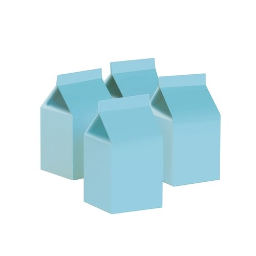 Pastel Blue Milk Boxes (Pack of 10)