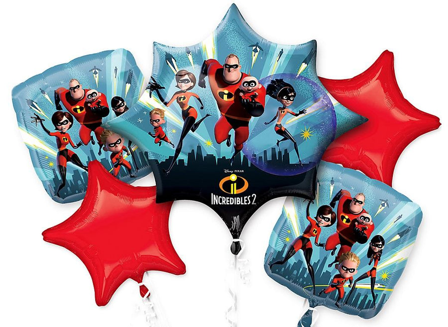 Incredibles 2 Foil Balloon Bouquet