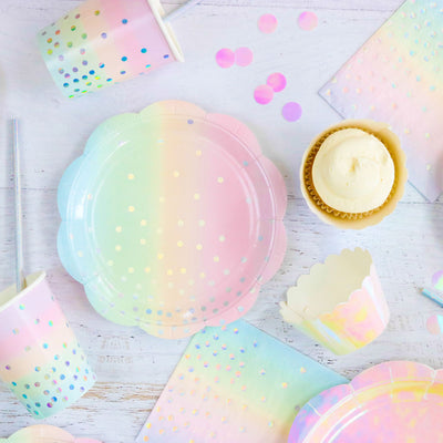 Iridescent Foil Cupcake Wrappers (Pack of 12)