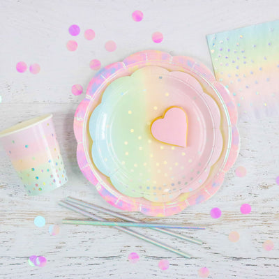Iridescent Pastel Cups (Pack of 10)