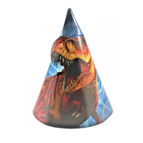 Jurassic World Party Hats (Pack of 8)