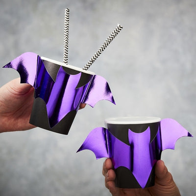 Bat Shaped Paper Cups (Pack of 8)