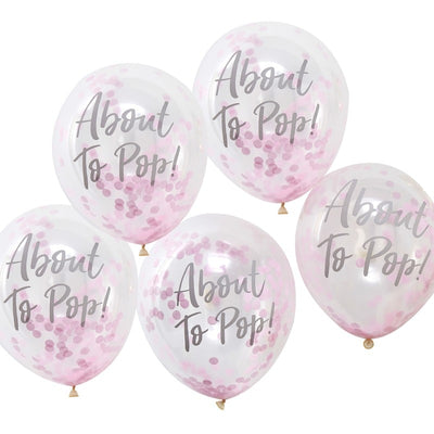 About To Pop Balloons - Pink (Pack of 5)