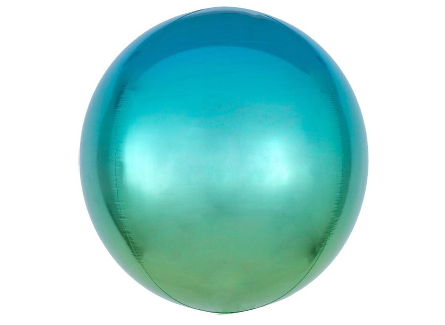 "Orbz 16"" Ombre Blue & Green Balloon"