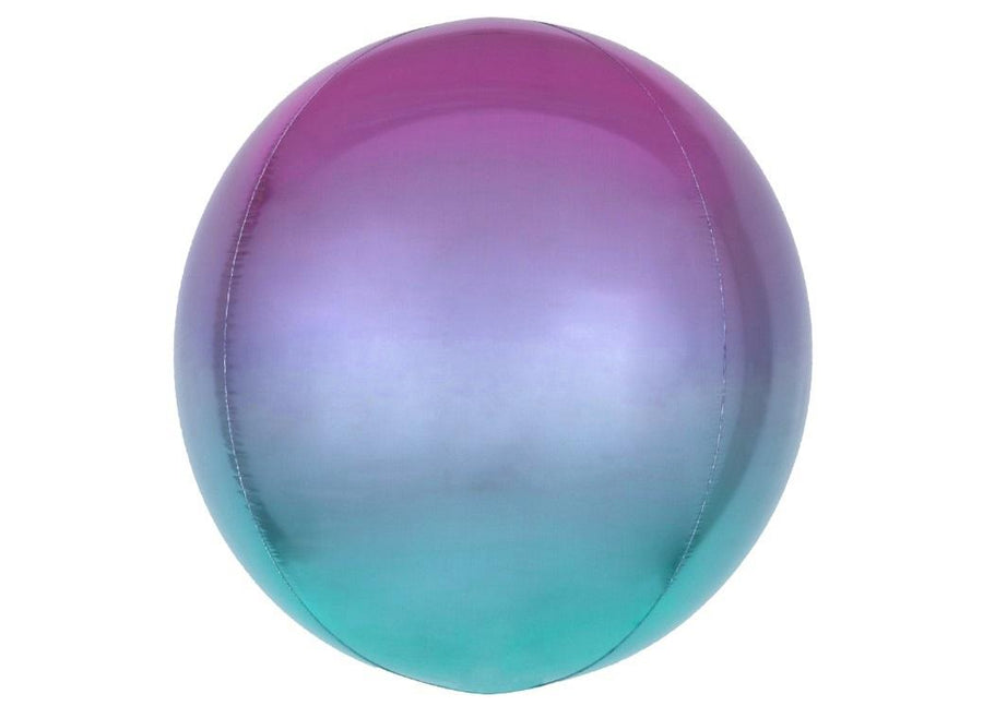 "Orbz 16"" Ombre Purple & Blue Balloon"