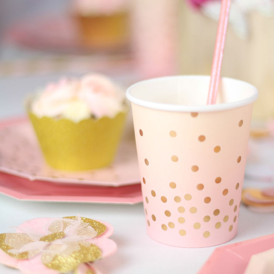 Pink & Peach Cups (Pack of 10)