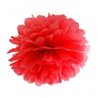 Pom Pom Decoration - Red