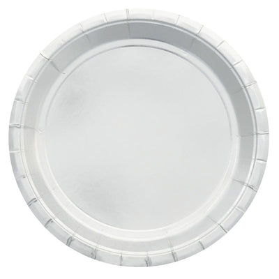 Silver Foil Large Plates (Pack of 10)