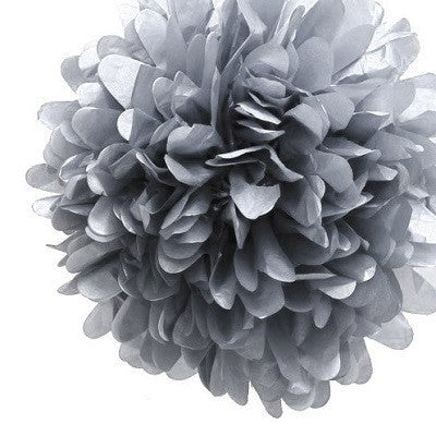 Pom Pom Decoration - Silver